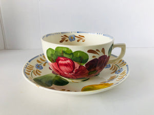 Simpsons Belle Fiore Chanticleer Ware Large Breakfast Cup & Saucer (8099)