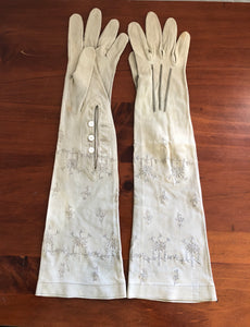 Art Deco English Long Fawn Gloves (8102)