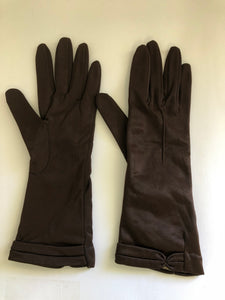Art Deco Brown Gloves (8103)