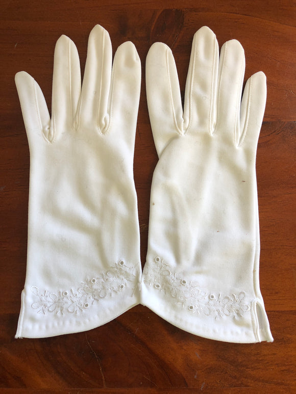 Art Deco West Germany Nylon Gloves (8106)
