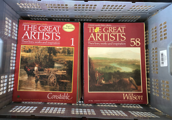 Marshall Cavendish The Great Artists Magazines x 80 (8108)