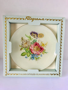 Vintage Italian Styled Filegrana Glass Plate (7823)