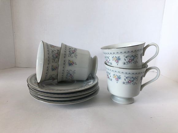 Royal China Japan Set 4 Teacup and Saucers (8111)