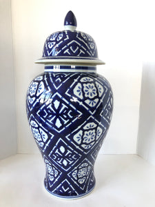 Large Blue and White Urn (8117)