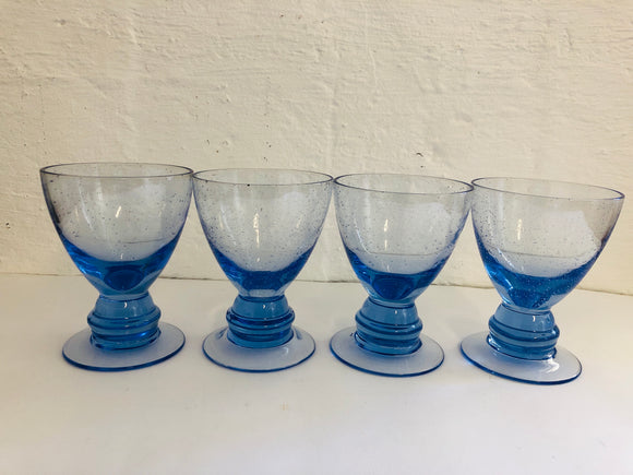 Blue Bubble Glasses x 4 (8120)
