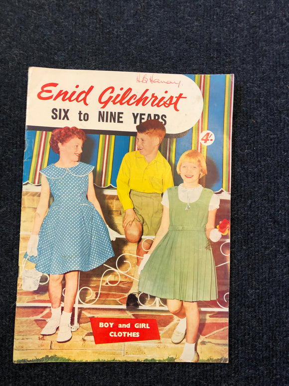 Vintage Enid Gilchrist Sewing Patterns 6-9 Years (8137)