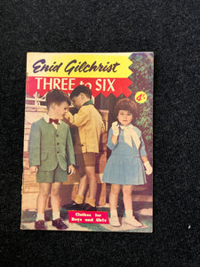 Vintage Enid Gilchrist Patterns 3 to 6 Years (8141)