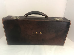 Vintage Monogrammed Leather Briefcase (7841)