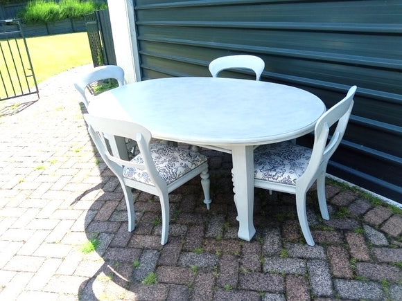 Upcycled 4 Seater Oval Dining Suite (9000)