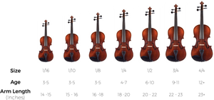 violin size chart