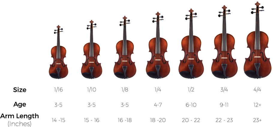 How to find your violin size