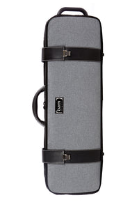 Bam 2001GF Hightech Oblong Violin Case - Grey Flannel