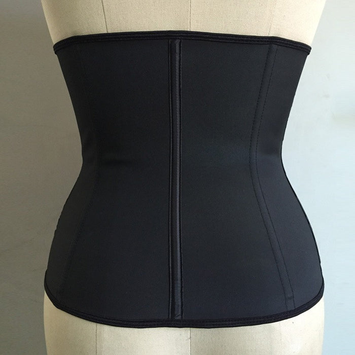 Front Double-breasted Zipper Latex Shaper Slimming Waist Corsets - alikasa store
