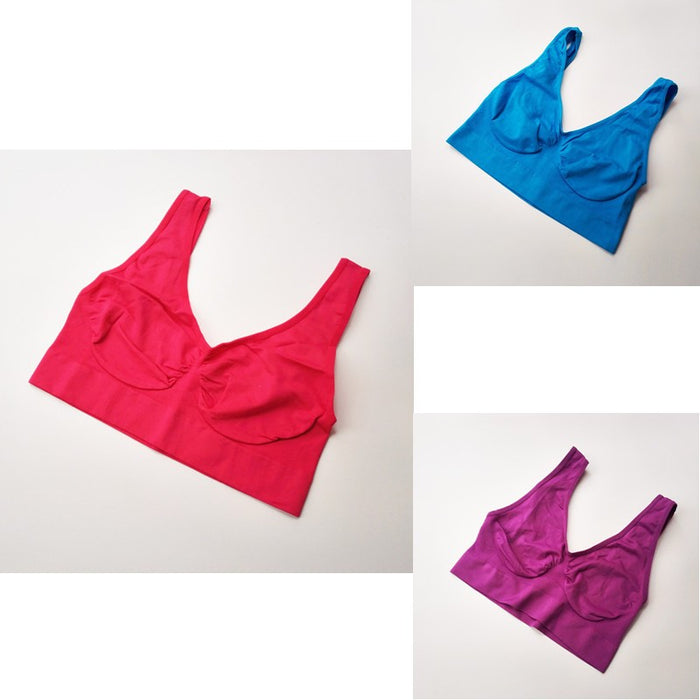 3 Pcs/Set  Push Up No Padded  Sports Bras - alikasa store