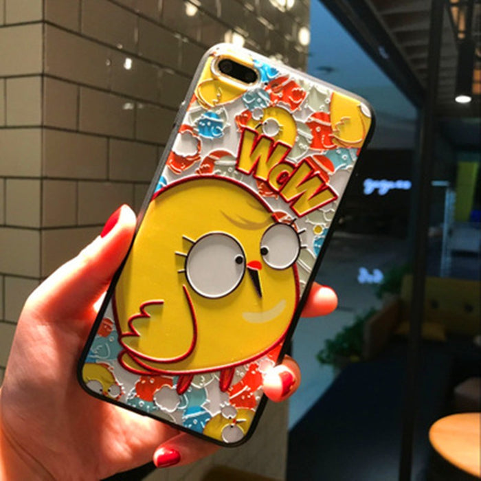3D Super - Super Embossed Cartoon Cell Phone Protection Sleeve iphone8 - alikasa store