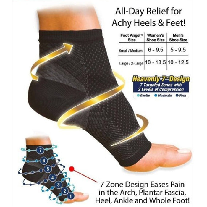 Anti-Fatigue Compression Foot Sleeve Sock (1 PAIR) - alikasa store