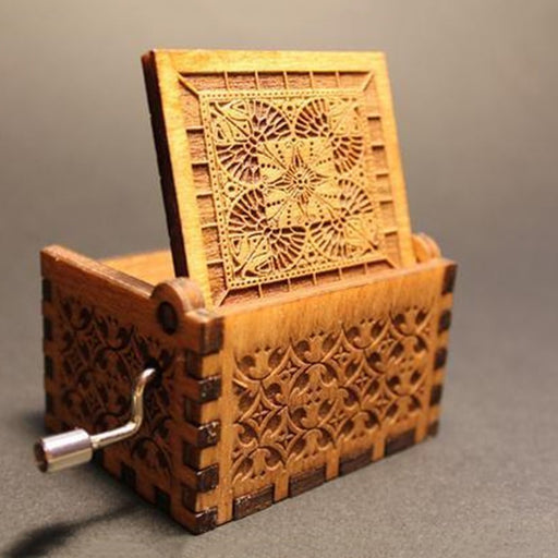 Wood Carving Music Box - alikasa store