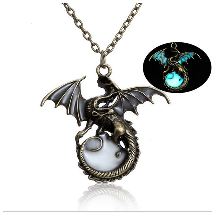Glowing Dragon Pendant Necklace
