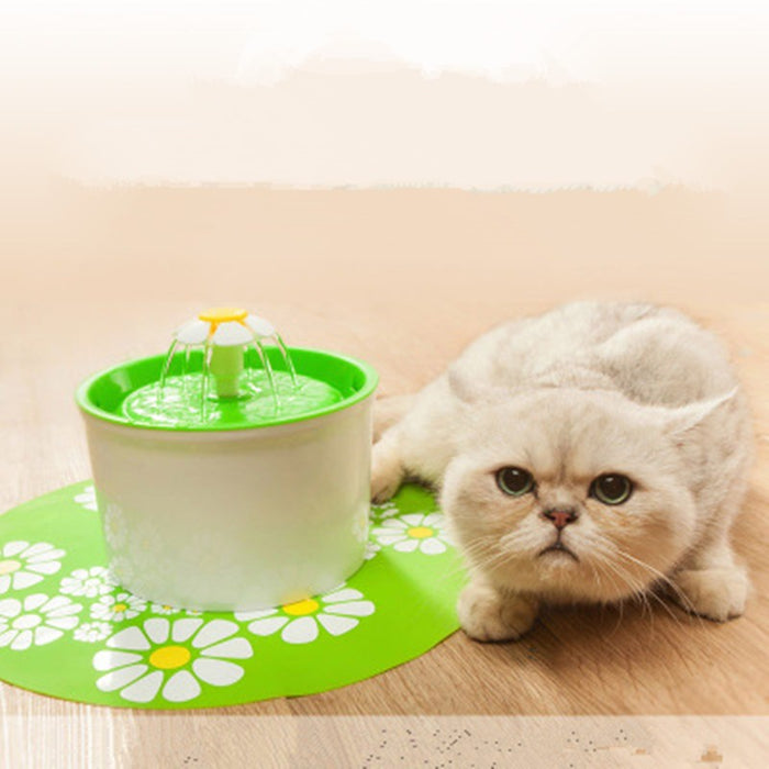 1.6L Flower Style Pet Water Drinking Fountain - alikasa store