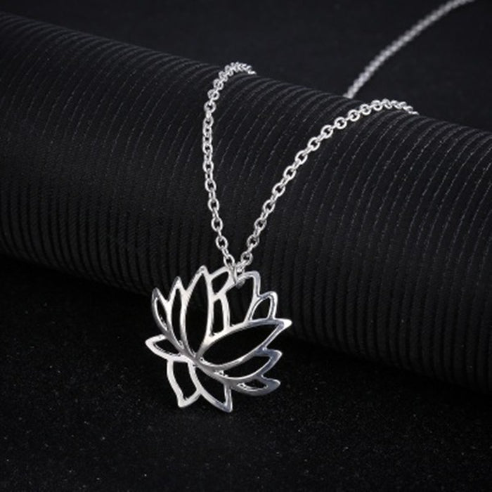 Hollow Lotus Necklace