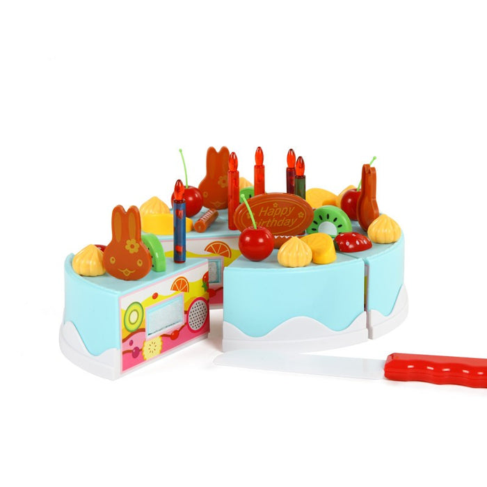 DIY Birthday Fruit Cake Set 75 Pieces Of Cake Accessories - alikasa store