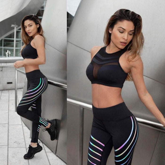 Digital Printed High-Waisted Leggings