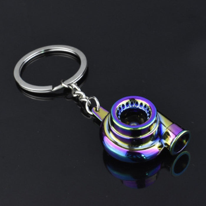 Car Modification Turbocharger Metal Key Chain