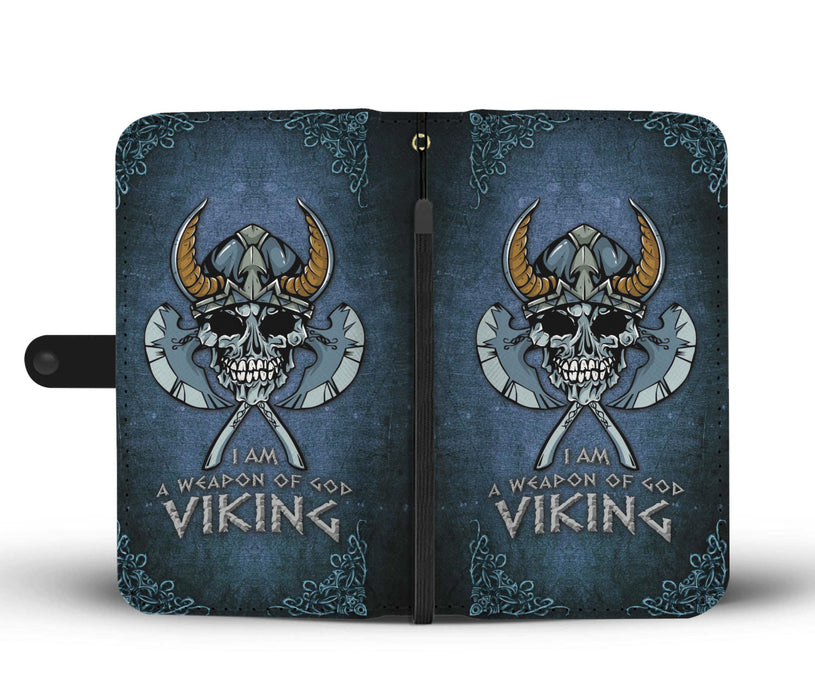 I am a weapon of god viking - Wallet Case