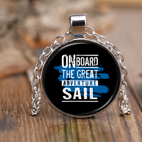 On Board The Great Adventure Sail - Necklace - Antique Brass