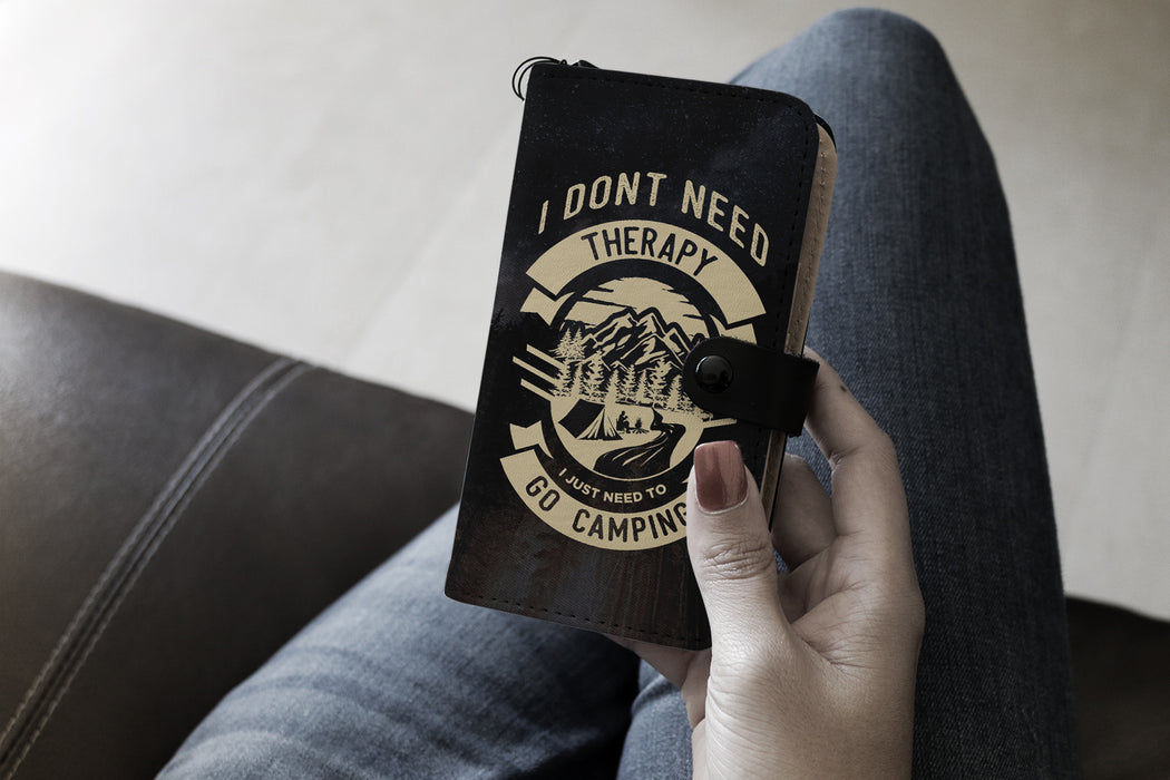 I don't need therapy I just need to go camping - wallet case