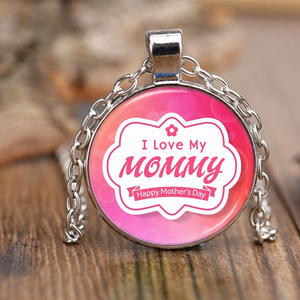 I Love my mommy - Necklace - Antique Brass