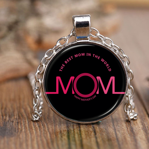 The Best Mom In The World - Necklace - Antique Brass