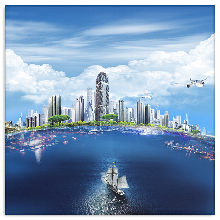 Beautiful City on Earth -  Canvas Wrap