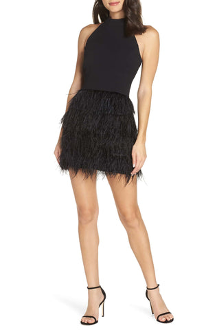nordstrom feather dress