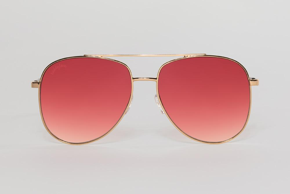 Maverick Pink Aviator Sunglasses