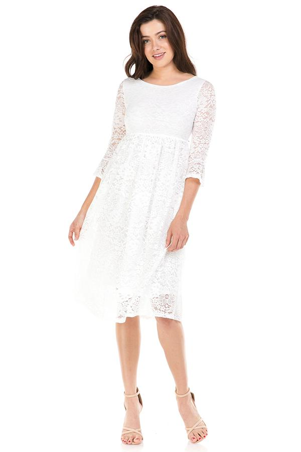All Laced Up Midi Dress