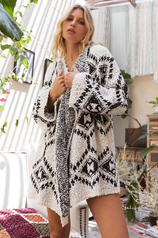 Time To Cozy Up Aztec Cardigan