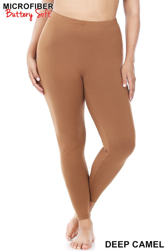 Basic Camel Leggings Plus