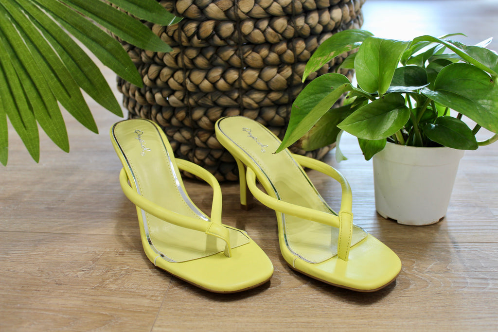 Yellow Isley Heeled Sandal