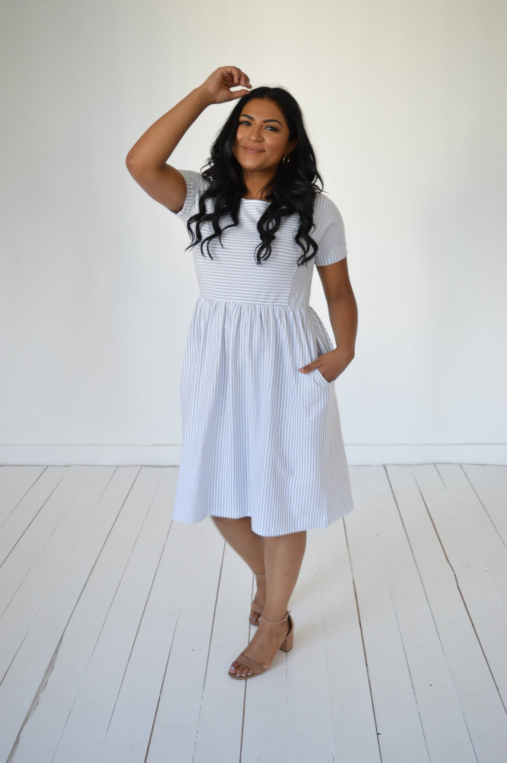 Button Away Midi Dress