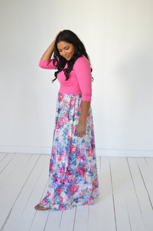 Bright Florals Maxi Dress