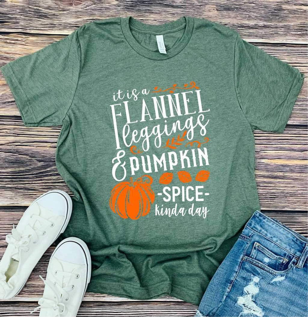 Flannel And Leggings Tee