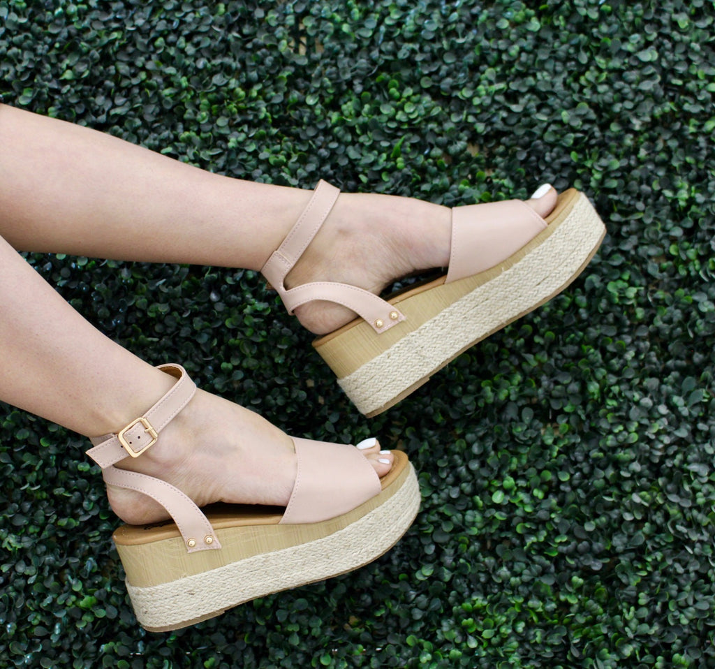 Blush Feora Wedge
