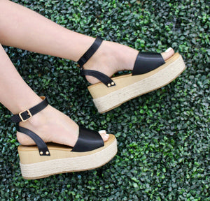 Black Feora Wedge