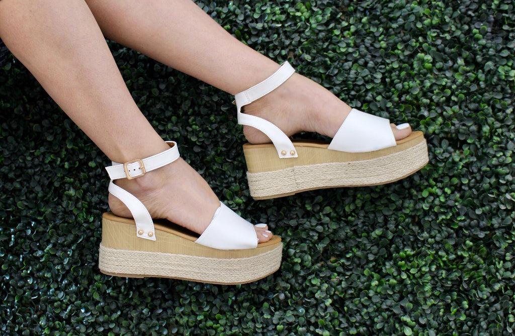 White Feora Wedge