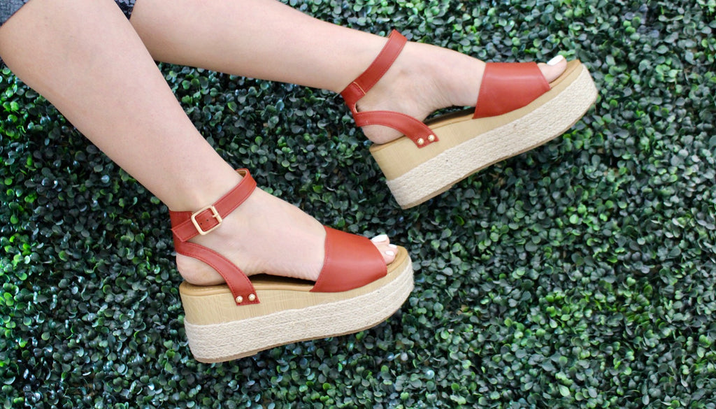 Brick Feora Wedge