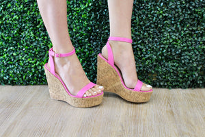Pink Checkmate Wedge