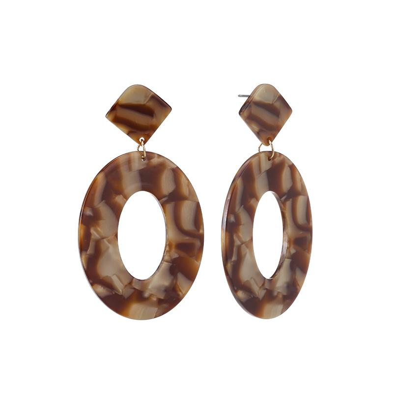 Brown Acrylic Drop Earrings
