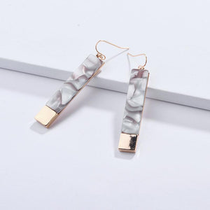 Ivory Acrylic Bar Earrings