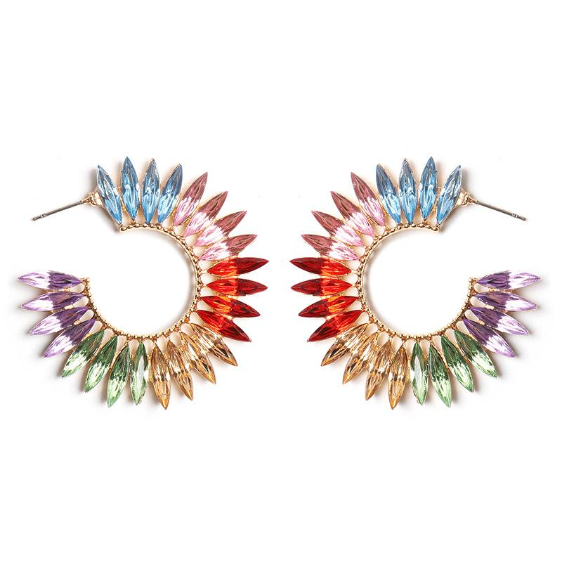 Multicolor Crystal Earrings